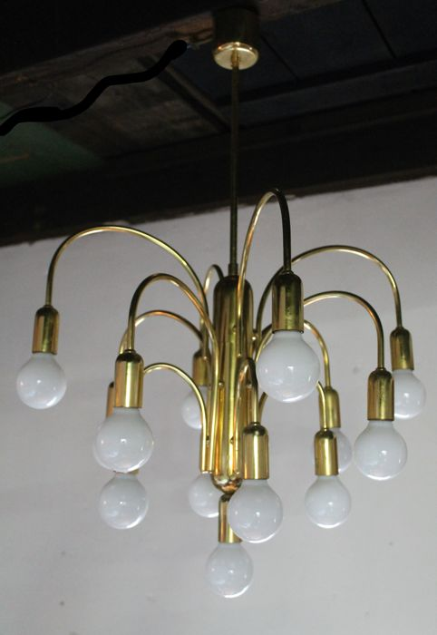 Unknown producer - stylish brass pendant lamp