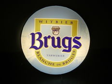 "Light advertising ""Brugs Witbier, Blanche de Bruges"", wheat beer, crown cap, 1999"
