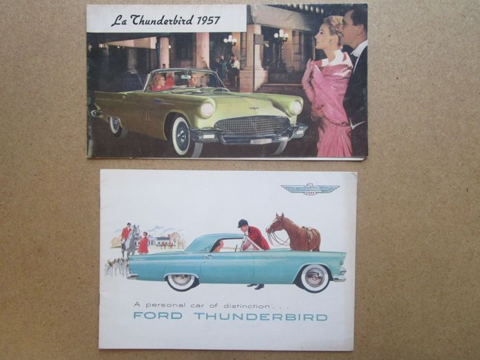 FORD THUNDERBIRD - Lot of 2 original brochures 1955 and 1957