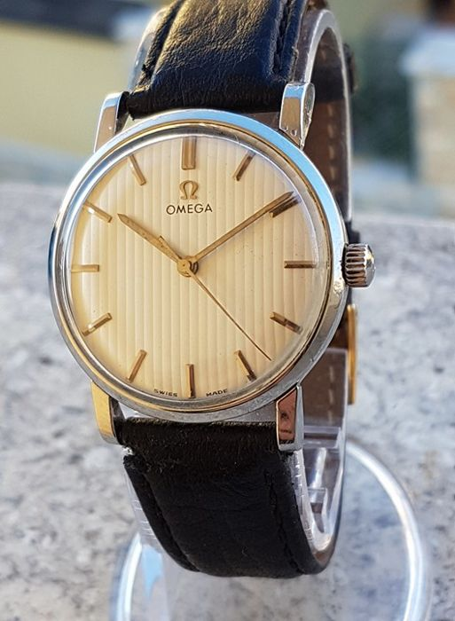 Omega - 1962 Ridged Dial 600 Caliber Stainless-Steel Watch - Unisex - 1960-1969