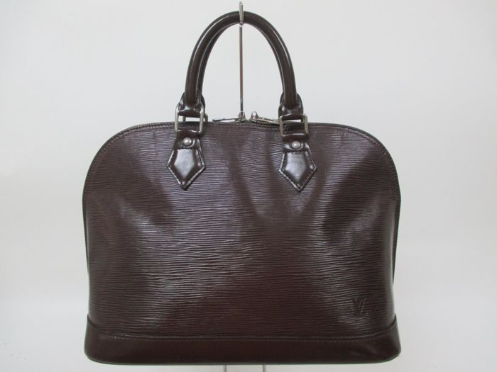 Louis Vuitton - Alma Brown Mocha Chocolate Epi Leather Handbag