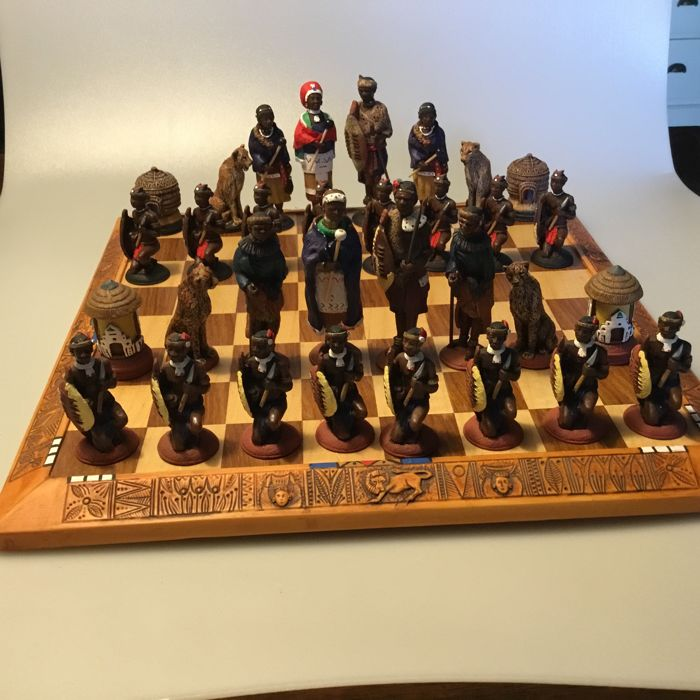 African  Tribal Chess Set