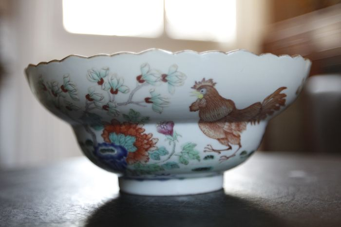 Polychrome porcelain bowl - China - second half of 20th century