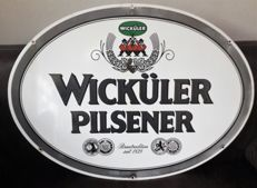 Large double-sided enamel sign - Wicküler Pilsener - 1970s