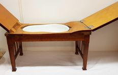 Antique maternity table (birthing table) - folding