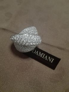 DAMIANI new exclusive cocktail ring, in 18 kt white gold with diamonds, size: 15.
