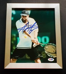 Andre Agassi - Authentic & Original Signed Autograph in Premium Framed Photo ( 20x25cm ) - with Certificate of Authenticity BECKETT
