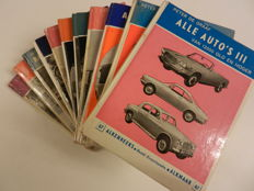 11 ALKEN REEKS booklets on Cars 1960s