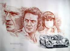 Steve McQeen - Porsche 917 #20 Movie Le Mans 1971 Exclusiv Giclee Print (With Certificate)