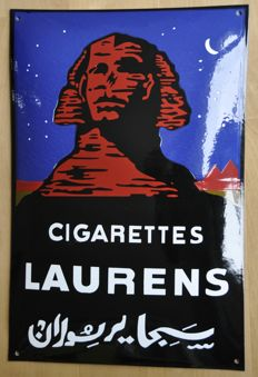 Enamel sign - CIGARETTES LAURENS - circa 1995