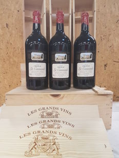 2012 - Chateau La Caussade - Graves de Vayres - 3 Doubles Magnums - 3 litres in Individual Wooden Box