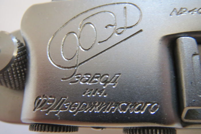 "The very first ""FED"". With the inscription factory FEDZHERZHINSKOGO.№407002.Prototype of ""Leica II""."