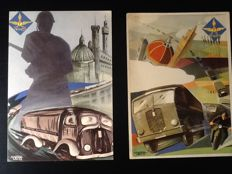 Gorgeous postcards from the 1930s-40s by the futurist painter TATO