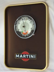 Large advertising MARTINI __ barometer __ Circa 1960 - 1970 France