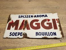 Enamel board - Maggi -  double-sided Dutch advertising