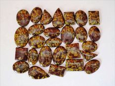 Ajoobalite Jasper Gemstone lot 1925  ct - 27 pcs
