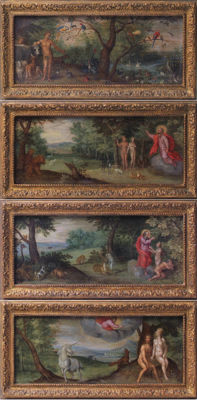 Jan Brueghel I (or the Elder) (1568 - 1625) (attributed to) - Polyptyque du paradis terrestre