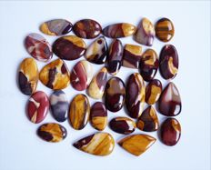 Mookaite Gemstone lot 1015 ct - 30 pc