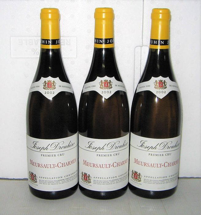2002 Meursault 1° Cru Charmes - Joseph Drouhin – Lot of 3 bottles