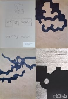 Eduardo Chillida - Sculptural Plan - Composition I -  Marble and Lead - Composition
