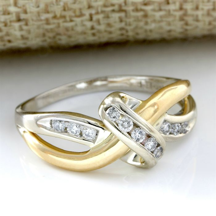 14kt Yellow Gold Ring 0.25 ct Diamond, Ring Size  - 10