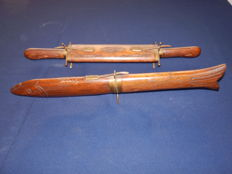 2 pieces of hunting cutlery - cutlery from India