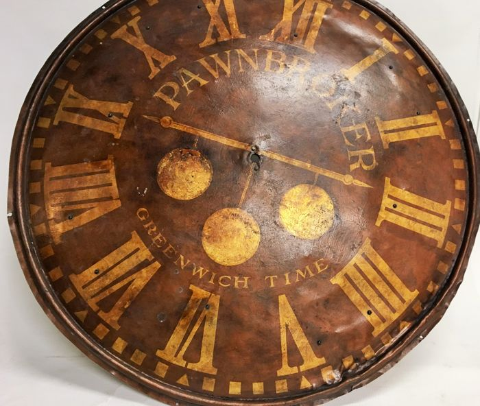 Large Iron Clock Face Of Wall Clock Now Can Be Used As A Coffee Table
