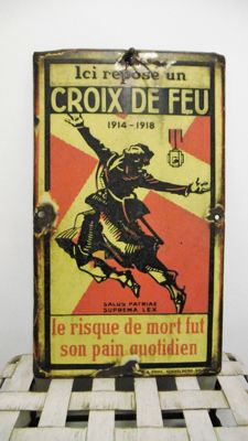 Enamel sign - Croix de Fer - 1st half of 20th century