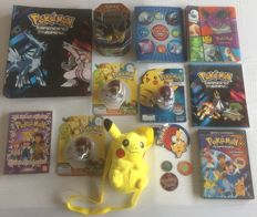Lot of 15 Pokemon items (Pokeball's, Gameboy game, DVD's and more)