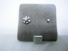 Two white gold earrings with diamonds