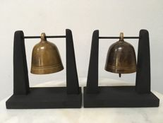 Lot with 2 Bronze Temple Bells - Burma - 19th century (Mandalay)