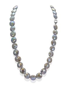 Long Baroque Freshwater Pearl Necklace Completed with a Silver Clasp