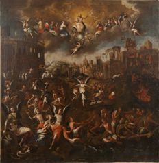 Symbolic representation of the Last Judgment - Marten de Vos - Oil on canvas -1610 - 17th century