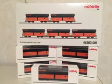 "Märklin H0 - 46263.001 - Five open self-unloaders ""MMC Cargo"""