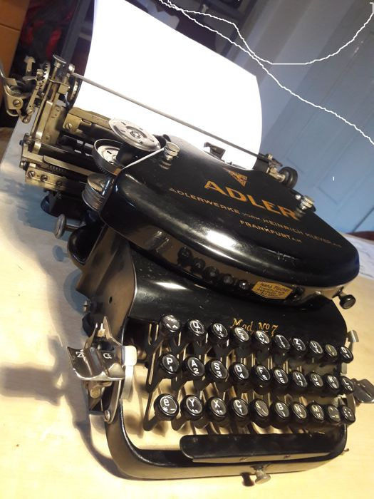 Typewriter ADLER 7, Germany 1920, typewriter