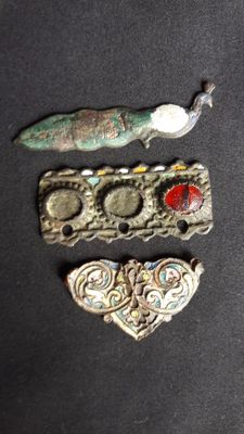 Collection of Medieval Plaques with Enamel, 3 pcs