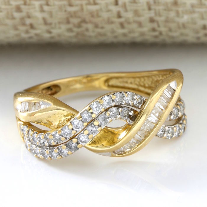 14 kt Yellow Gold 0.50 ct Diamond Ring  ,  Size: 8.5