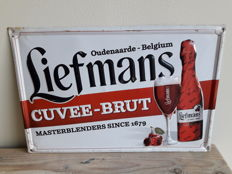 Liefmans Cuvée-Brut advertising board in tin