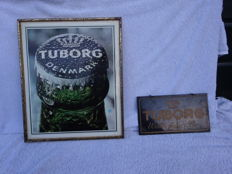 Advertising boards, thick plastic and plastic-coated cardboard -Tuborg - 1972