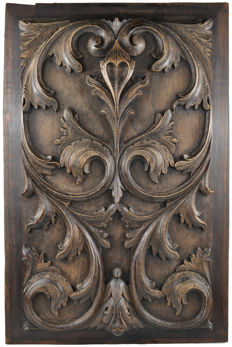 "Big size decorative panel ""Fleur de Lys"" - France, first half 20th century"