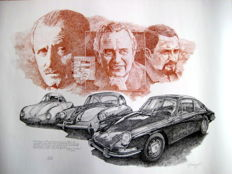 3 Generations Porsche Exlusiv Giclee Print (With Certificate)