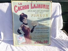 Advertising sign cardboard - La Cachou Lajaune - ca. 1965