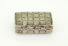 A George III Silver Vinaigrette with basket weave decoration - Joseph Willmore - Birmingham - 1816