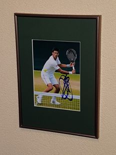 Novac Djokovic - Tennis Legend - hand signed framed photo  + COA.