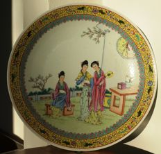 Famille Rose plate  -  China - Mid 20th Century
