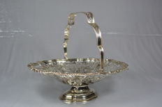 Edwardian silver basket - Walker & Hall - Chester - 1906