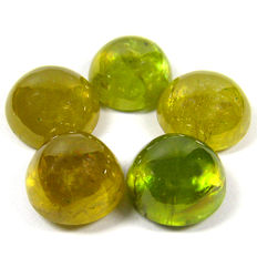 Lot Of 5 Fine Quality sphene - 9.9 to 10.6 mm 29.71 ct (5)