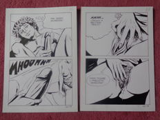 Original work; 2 drawings by Stizza - 1980