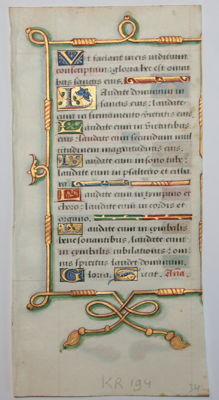 Manuscript; Original leaf from a Paris manuscript - 1520
