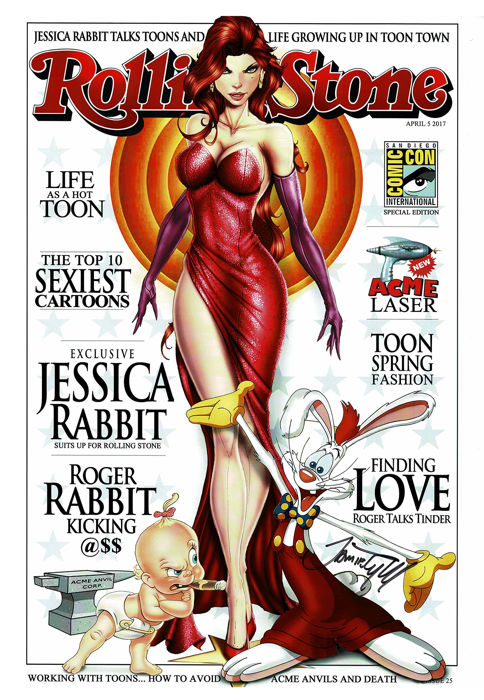 JESSICA RABBIT - Signed Limited Edition Poster - Rolling Stone Magazine Cover - Jamie Tyndall